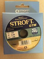 STROFT GTM Massively low diameter monofilament & Leader fishing line. Free P&P