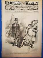 Louisiana, India, Canal Fraud, Nast, Harper's Weekly Complete Oct 30, 1875