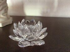 Swarovski Crystal Candle Holder Flower Good Condition No Box