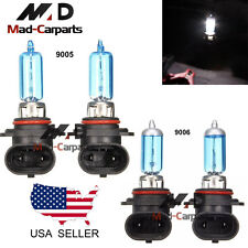 Combo 9005 + 9006 100w Halogen Xenon Headlight Light Bulb 6K White Hi Low Beam