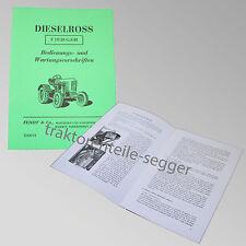 Fendt Betriebs- und Wartungsvorschriften für Dieselross F 15 / 20 G, GH 500019