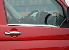 VW VOLKSWAGEN T5 TRANSPORTER CHROME SIDE DOOR WINDOW SILL TRIM COVERS SET STEEL