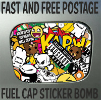 Fuel Cap Cover Sticker Skin Sticker Bomb Hot hatch Decals Street Rods Fast Fords