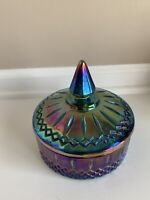 Carnival  Glass Candy Dish With Lid