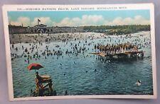 c. 1940 LAKE NOKOMIS Bathing BEACH Swimming Minneapolis MINNESOTA Postcard