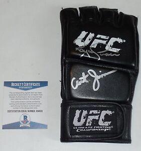 ROYCE GRACIE ART JIMMERSON SIGNED AUTO'D UFC GLOVE BAS BECKETT COA 1 HOF