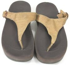 FitFlop Women's $75 Sandals Size 8 Strap Gold & Brown