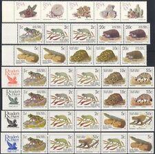 RSA/Sudáfrica 1995 Reader's Digest/Cactus/Rana/Mono/Erizo Tiras (7) b2778