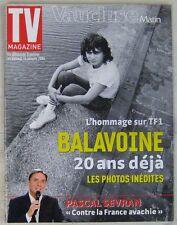 Revue TV Magazine Vaucluse Matin Janvier 2006 Daniel Balavoine
