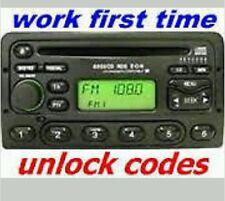FORD MONDEO/FIESTA/PUMA/FOCUS/ESCORT/TRANSIT/KA  RADIO/CD UNLOCK STEREO CODE