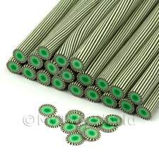 3x fatto a mano Verde Poker Chip Nail Art Canes (enc04)