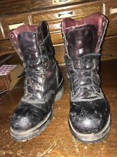 Vintage Chippewa Mens Steel Toe Work Boots Black Must See Description