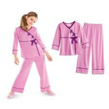 American Girl CL REBECCA SATIN PAJAMAS for Girl XL 18/20 PJ Purple Beforever NEW
