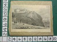 C1829 Antik Aufdruck ~ die Burg Von The Mound ~ Edinburgh