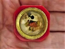 Vintage Early 30's Cherry Red Bakelite Disney MINNIE MOUSE Pocket Pencil Sharpen