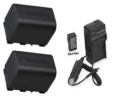 2 Batteries + Charger for JVC GZ-MS230RU GZ-MS230RUS GZ-MS230U GZ-MS240 GZ-MS250