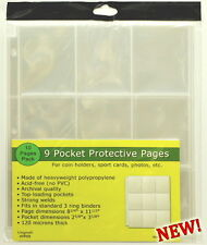 250 pages (TWENTY-FIVE PACKS) of Unigrade 9 pocket pages for Sport cards