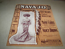 Navajo Sheet Music 1903 by Harry Williams Egbert Vanalstyne From Nancy Brown