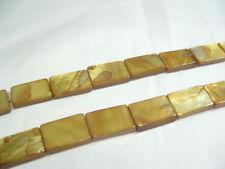 15 x vadrouille teints plat oblongue les perles: ob47 gold / lime