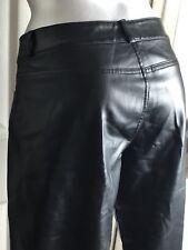 EXPRESS Moto Style Pleather Pants SIZE 5/6 PURE EBONY COLOR BLACK