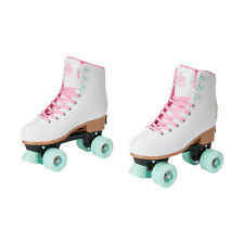 New listing Roller Skates - White, Size 6 to 8,Adjustable boot PVC stopper,58mm wheels.