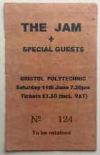 The Jam Original Rare Used Concert Ticket Bristol Polytechnic 11th June 1977