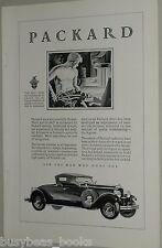 1929 PACKARD advertisement, Packard ROADSTER, Topless male steel-worker