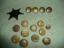 New listing 1900s Vintage Police Badges & Uniform Buttons, waterbury ct evans mass