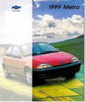 1999 Chevrolet Geo Metro 22-page Original Sales Brochure Catalog - Chevy