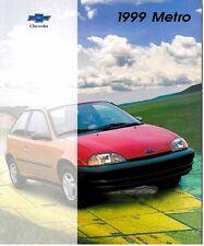 1999 Chevrolet Geo Metro 22-page Original Sales Brochure Catalog - Chevy