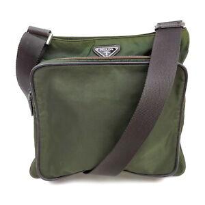Prada Shoulder Bag Pocono Olive Nylon 1421188
