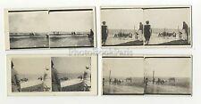 Le Touquet 4 Photos amateur stéréo Vintage argentique 1932