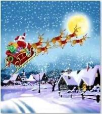Papá Noel en volar Trineo Con Reno De Navidad Santa Cortinas de ducha