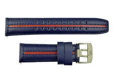 Luminox 9200 F-22 Raptor 24mm Blue Leather w/ Red Stripe Watch Band Strap 9273