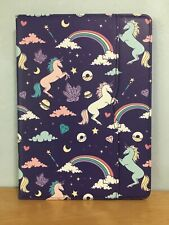 purple rainbow doughnut unicorn ipad cover with screen protector.