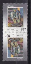 Litauen 1993 postfrisch Kehrdruck MiNr. 544  Wertstufen stehen innen