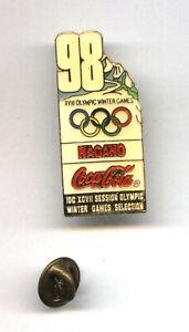 NAGANO 1998 CocaCola IOC Session Olympic Selection Bid pin