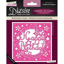 Crafters Companion DIESIRE Create a Card Die BIRTHDAY STARS Cut Emboss Stencil