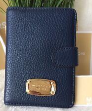 MICHAEL KORS Jet Set Item Leather PASSPORT CASE PASSPORT CASE/WALLET~NAVY~nwt