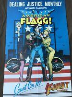 Howard Chaykin American Flagg Promo Poster Vintage First Comics 1985 Rare