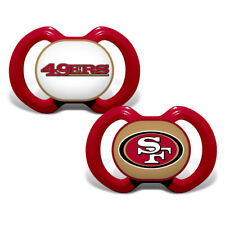 b05194e1e47 SAN FRANCISCO 49ERS 2-PACK BABY INFANT ORTHODONTIC PACIFIER SET NFL FOOTBALL