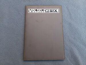 Wolseley Six - Drivers Handbook - Near Mint Condition