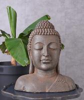 Buddhakopf Büste Buddha Gartenfigur Koi Teich Skulptur Asien China Figur Garten