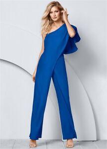 Venus Women's Jumpsuit One Shoulder One Piece Asymmetrical Blue Size 6