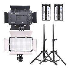 2x Godox LED170 II Studio Lighting Kit Light Stand Li-on Battery Set for Camera