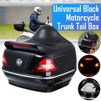 Motorcycle Trunk Top Box Rear Luggage Case Tail Light For Yamaha Suzuki Cruiser