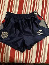 """Vintage Rare Original Umbro England Italia 90 Shorts 1990. 28"""" Waist."""