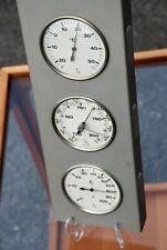 3-teilige LUFFT Außen-Wetterstation mit Thermometer Hygrometer Barometer Vintage