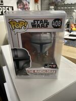 Star Wars Funko POP Mandalorian 408 Mandalorian GAMESTOP EXCLUSIVE PROTECTOR nib