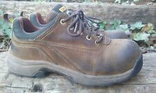 Womens Carolina Lytning Carbon Toe Safety Work Shoes Size 8.5 Brown Leather